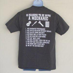 MECHANICS Tshirt, M, Gray, 10 reasons to be with
